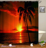 tropical-sunset-shower-curtains