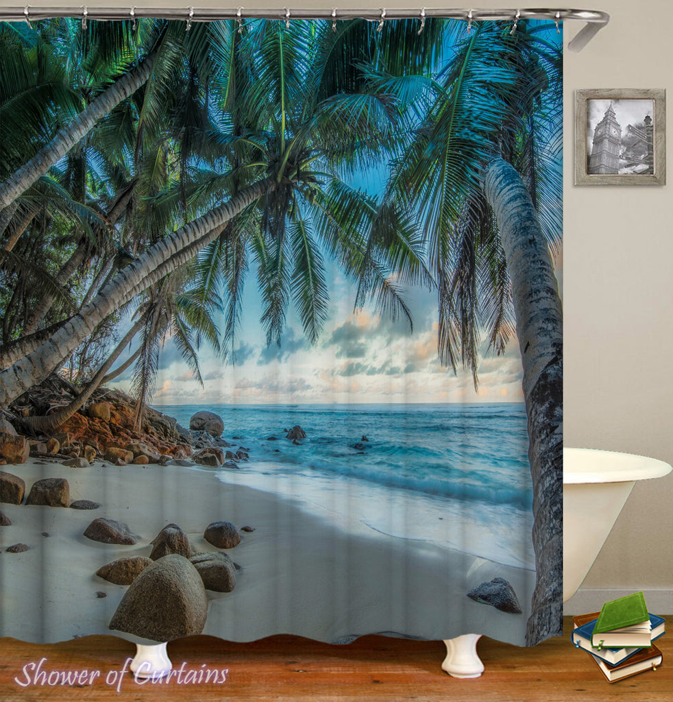 Tropical shower curtain - Tropical Heaven