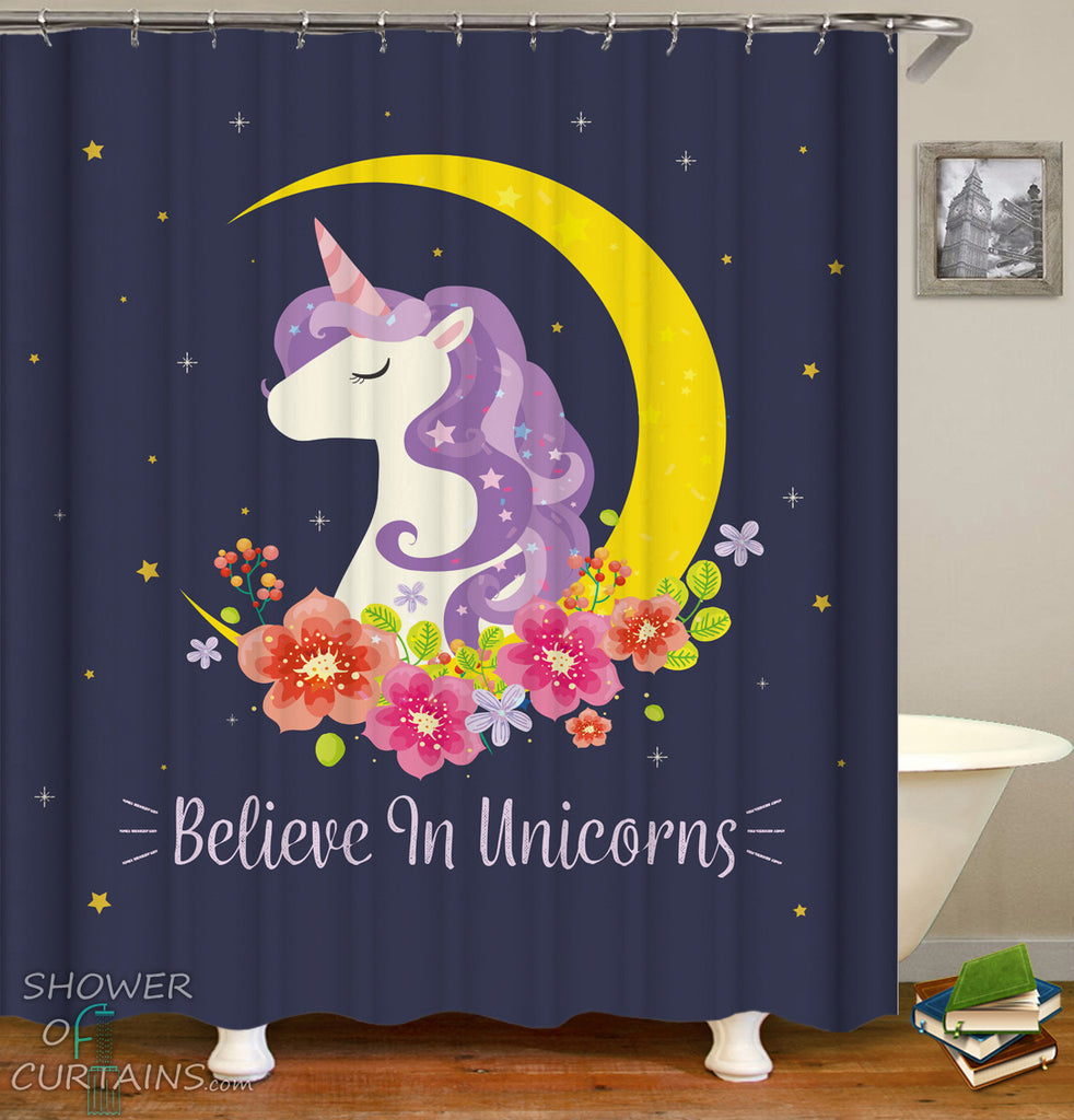 Unicorn Shower Curtain - Unicorn Princess