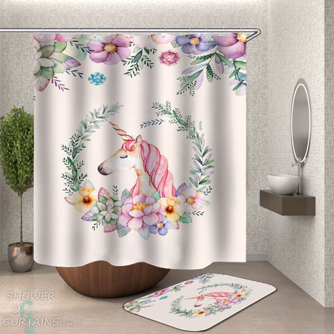 Unicorn Shower Curtain