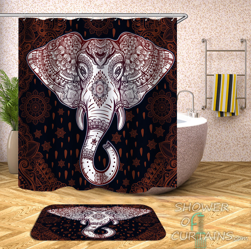 Unique Shower Curtains of Gorgeous Indian Elephant Shower Curtain
