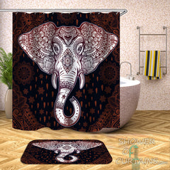 gorgeous indian elephant shower curtain