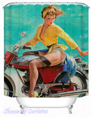motorcycle-girl-shower-curtains