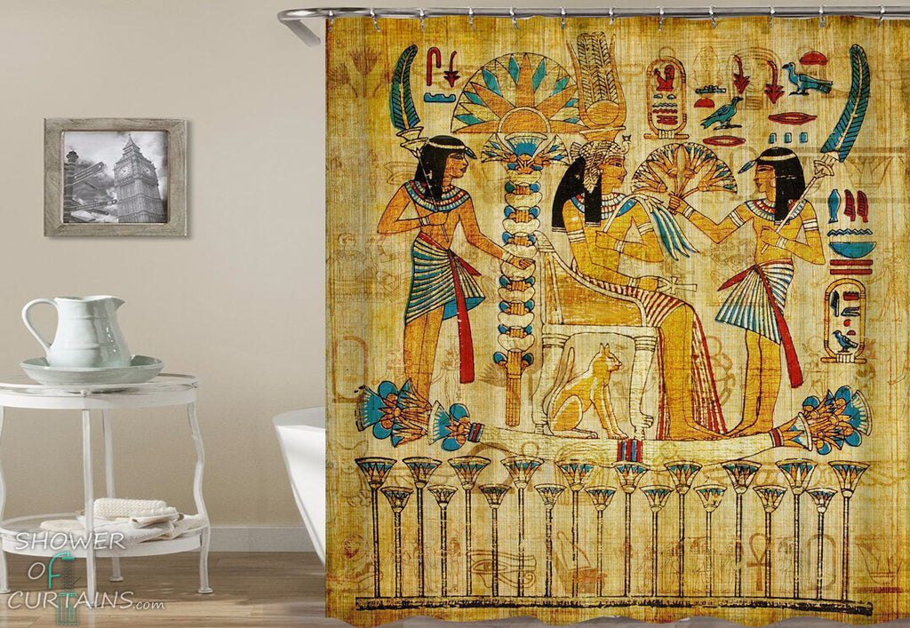 Wall Art Egyptian Shower Curtain