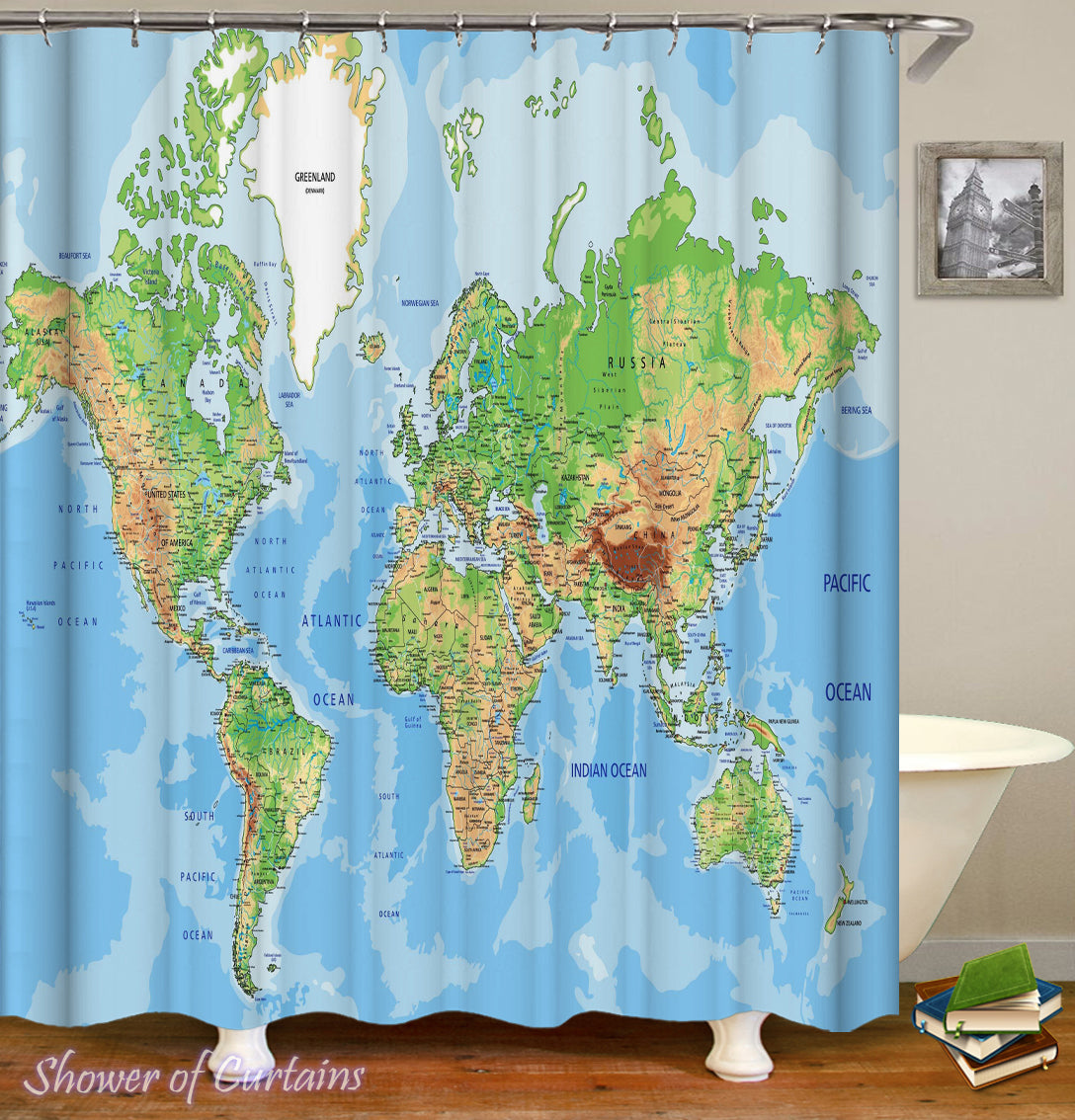 Shower Curtains World Map Shower Of Curtains