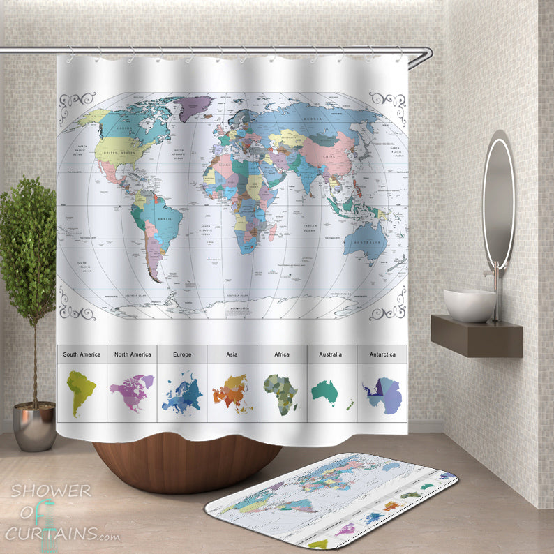 shower curtain map of world Shower Curtains World Map Shower Of Curtains