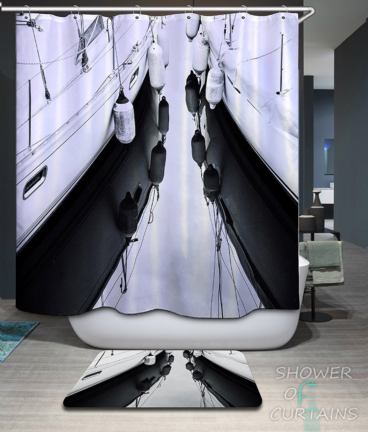 nautical shower curtains of Yachts' Fenders