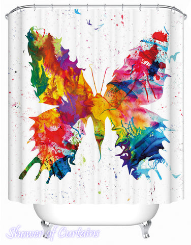 Shower curtain of Art Painting Butterfly