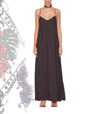 VIDIGAL STRAP DRESS WASHED BLACK