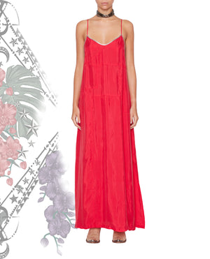 VIDIGAL STRAP DRESS JALAPEÑO RED