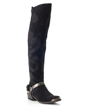 TWIN CITIES EMBROIDERED BOOTS BLACK