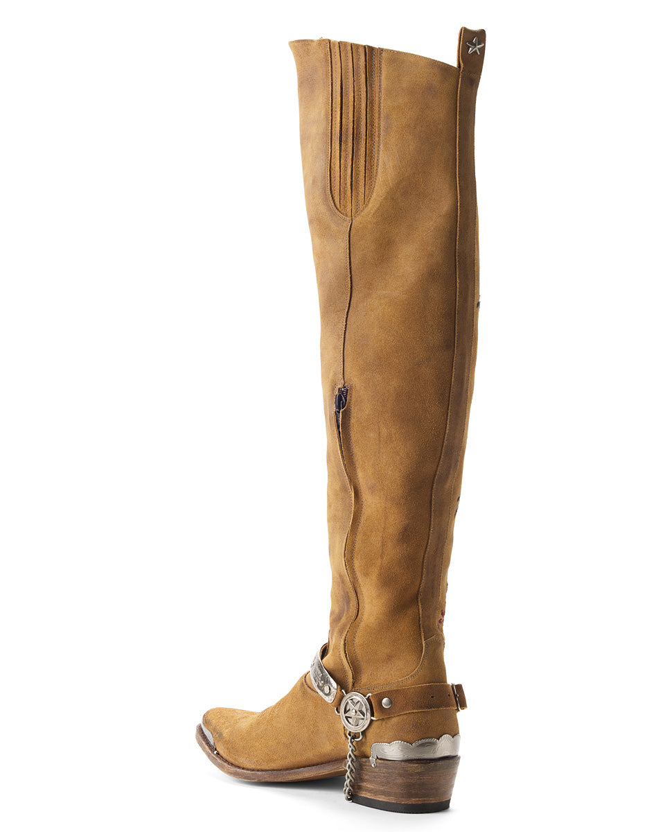 TWIN CITIES EMBROIDERED BOOTS TAN