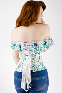 Haut corset coton Cold Shoulder Birds Of Paradise