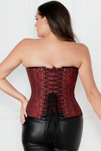 Corset Waist Training réversible Rouge
