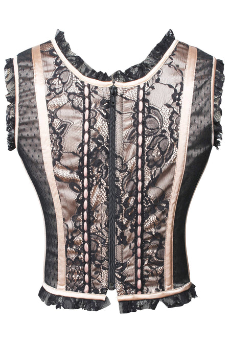 Corset Bodice with Zip Closure