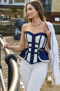 Naval Inspired Overbust Corset
