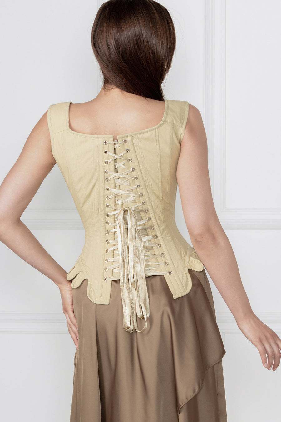 Historically Inspired 1600-1650 Cotton Overbust Corset