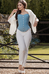 Historically Inspired 1800-1850 Cotton Overbust Corset