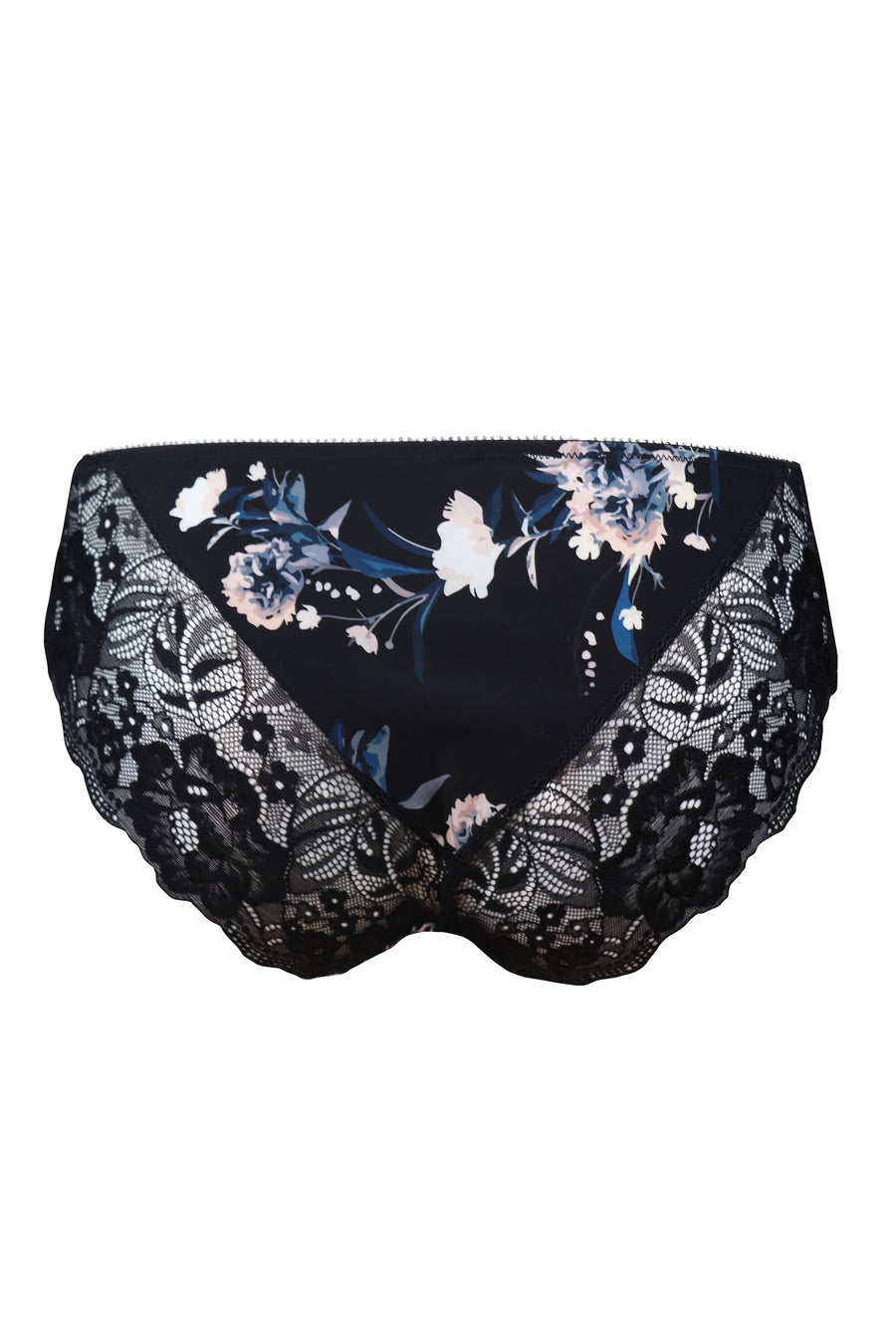 Pour Moi - Flamenco Brief Black Floral