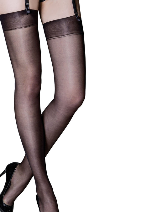 Secret Luxe Sheer 12 Denier Stocking - Black