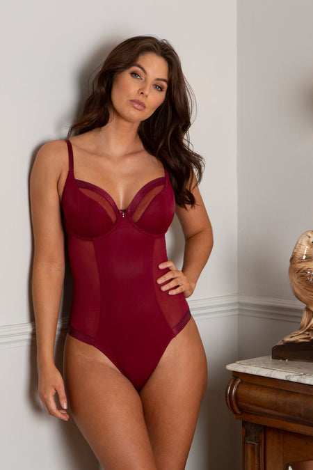Pour Moi - Viva Luxe Underwired Body Deep Red