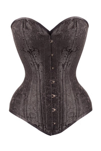 Corset Expert Waist Training long brocart Noir
