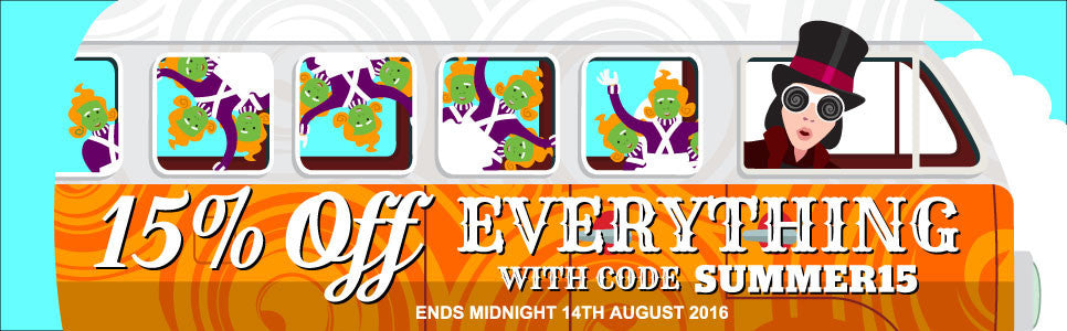 15% off everythinh with code SUMMER15!