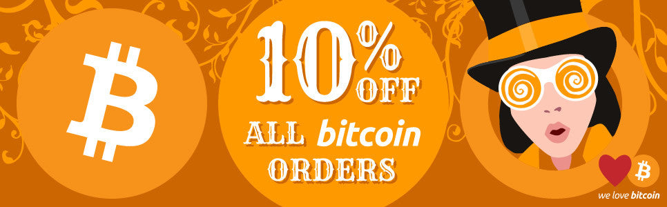 10% off all Bitcoin orders