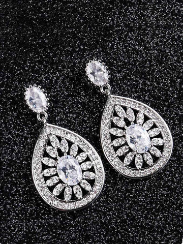 Fashion Zircon Crystal Alloy Earrings