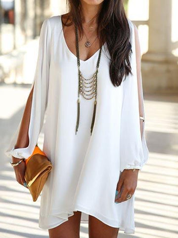 Open Shoulder Mini Dress