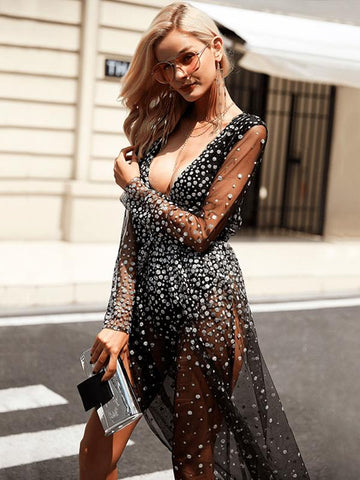 Sexy Deep V-neck Maxi Dresses