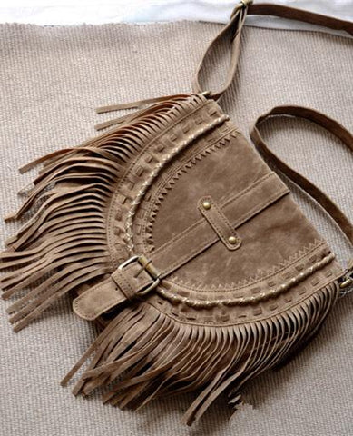 Bohemia Tassels Decorated Single Bag