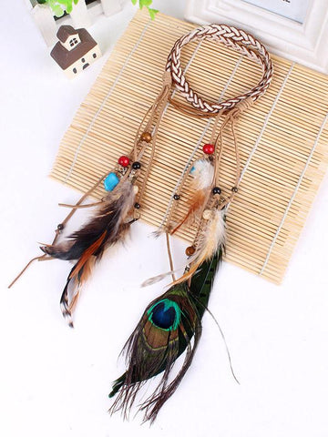 Fashion Tassels Feathers Hair Band Headwear Accessories