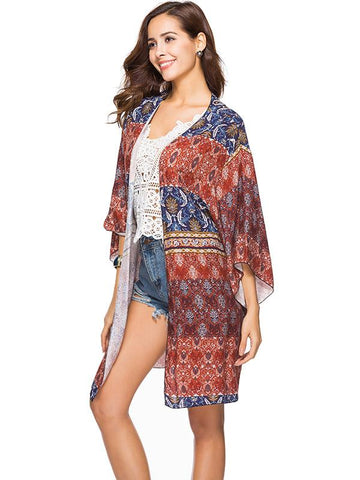 Floral Printed Cover-Up Tops