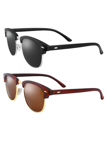 Two Pieces Amazing Ultra-violet Ray Intercepting Polarized Sunglasses
