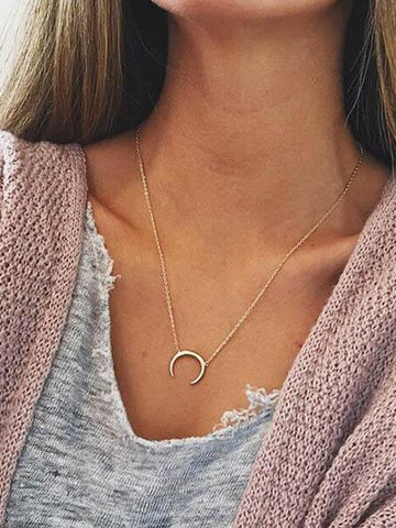 Daily Fashion Moon Alloy Necklace