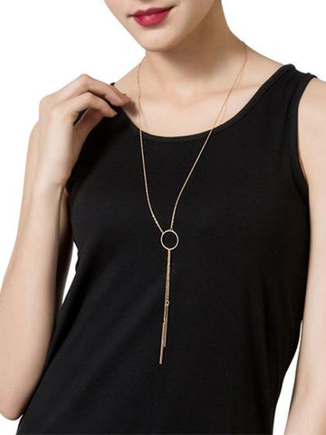 Fashion Golden Alloy Necklace