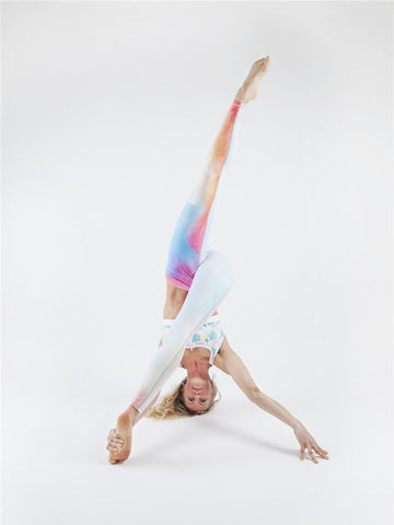 Color-block Printed Sports Yoga Leggings Bottoms