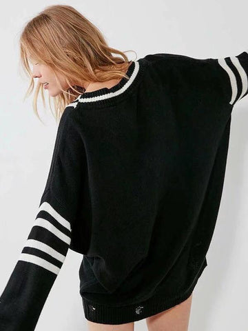 Fashion Knitting V-neck Sweater Tops