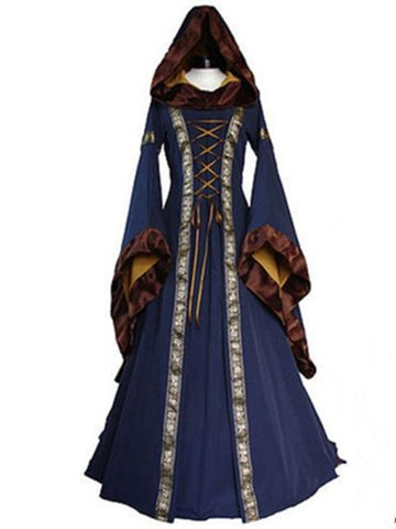Middle Ages Flared Long Sleeves Maxi Dress