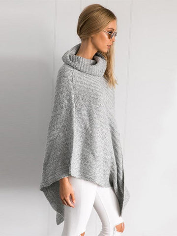 Fashion Batwing-sleeves Asymmetric Sweater Tops