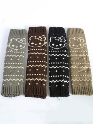 Lovely Cat Pattern Leg Warmers Stocking