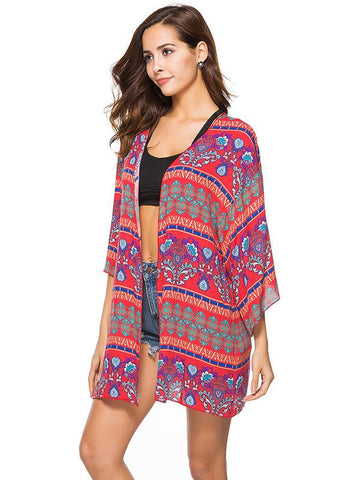 Floral Printed Cover-Up Top