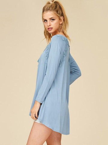 Hollow Lace-up Blouses&Shirts Top