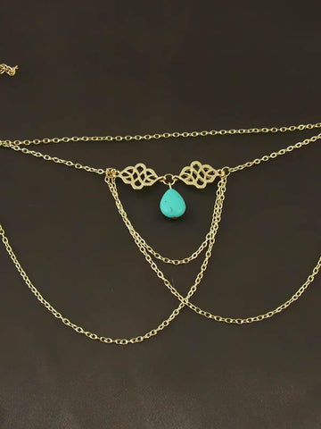 Bohemia Tassels Hollow Turquoise Arm Chain Accessories