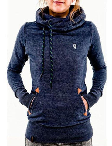 Pure Color Hooded Sweatshirt