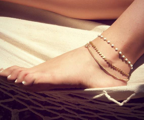 Boho Personlized Anklet(set of 3)