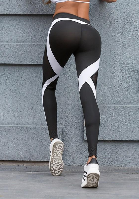 Heart Print Bodycon High Waisted Yoga Sports Workout Long Legging