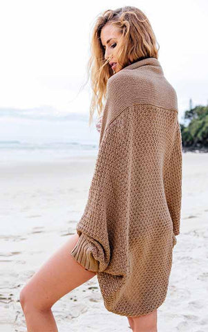 Fashion Long Sleeve Crochet Solid Color Top