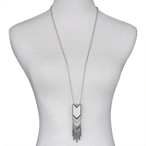 Fashion Silver Tassels Necklace